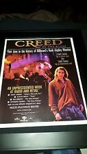 Creed My Own Prison Rare Original Promo Poster Ad Framed!