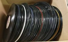 Lots of 100 Music Vinyl Records, all warped, good for arts and craft