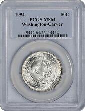 1954 Washington-Carver Commemorative Half Ms64 Pcgs Mint State 64