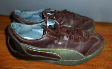 MENS PUMA ALEXANDER MCQUEEN BROWN LEATHER LACE UP SNEAKERS SIZE 10