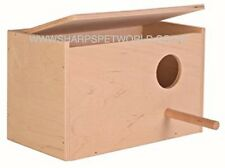 Trixie Wooden Budgie Nest Nesting Box & Perch For Cage Aviary With Opening Top