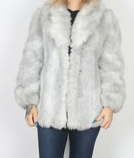 Faux Fur Jacket Coat Short UK 12 Medium    (JBE)