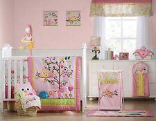 Kids Line Dena Happi Tree 6 Piece Crib Set, Pink w Original Boppy Nursing Pillow