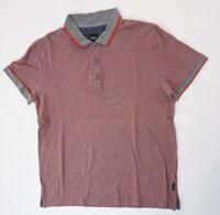 HUGO BOSS Poloshirt Polohemd Herren Gr.??? rot gestreift Knopf Piquè -S1360