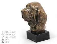 Fila brasileiro - uncropped, dog bust marble statue, ArtDog , Ca