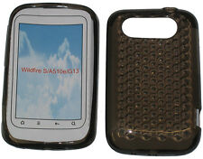 Pattern Soft Gel Jelly Case Protector Cover For HTC Wildfire S A510e G13 Black