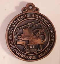 """New listing *Canadian """"1973 Norwich & District Historical Society - Exhibitors Award"""" Medal"""