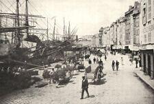 BOUCHES- DU- RHÔNE. Marseille. Quais du Vieux port 1900 old antique print