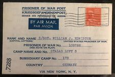 1945 Germany POW Camp Cover Stalag 17B Air  Force US Prisoner of War WJ Edmiston