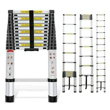 8.5/15.5/16.4FT Telescoping Ladder Extension Extendable Ladder Capacity 330lbs