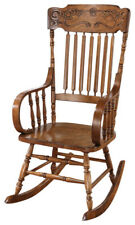Country Style Brown Oak Finish Rocker Rocking Chair 600175
