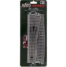 Kato 2-861 Aiguillage Droite / Electric Turnout Right #6 R867 10° - HO