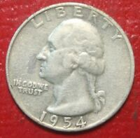 1952-P   US   Silver  Washington  Quarter   ...Circulated...