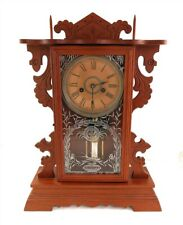 Nice Antique Ansonia Wood Mantel Chime Clock