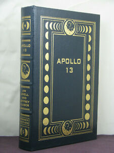 signed by both,Apollo 13 by Astronaut Jim Lovell and Jeffry Kluger, Easton Press