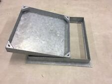 MANHOLE COVER  BLOCK PAVING  600X600x80mm recessed All Steel Tray Frame Lifteye