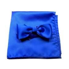 PAPILLON blu royal FARFALLA COMPLETO fazzoletto DA TASCHINO M ITALY abbina navy