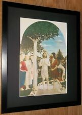 Baptême du christ par piero francesca, cadre 20''x16'', masters nude paintings