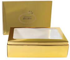WEDDING GOWN PRESERVATION STORAGE BOX  EXTRA DEEP  GOLD