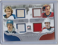 2012-13 IN THE GAME FOREVER RIVALS ITG SITTLER SHUTT LAFLEUR SALMING QUAD JERSEY