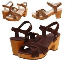 UGG AUSTRALIA LUELLA SANDALS Chocolate/Chestnut Suede Heeled Shoes-Choose Size!