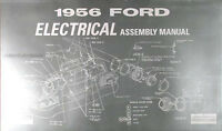 1956 thunderbird electrical assembly manual 56 t bird wiring rh ebay com 1967 Mustang Wiring Schematic 1956 ford thunderbird wiring schematic