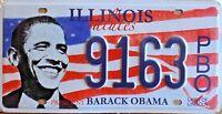 PLAQUE IMMATRICULATION Américaine USA  - ILLINOIS salutes BARACK OBAMA