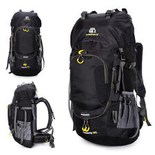 60L Waterproof Hiking Backpack Camping Mountain Climbing Cycle Outdoor Sport Bag
