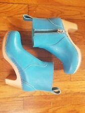 Swedish Hasbeens Zip It Super High Boots 37 EU, 6 US $329 New Turquoise