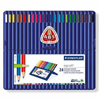 Staedtler Ergosoft Colored Pencils, Set of 24 Colors in Stand-up Easel Case