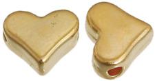 200 Stück Metallperle 7x6mm Herz goldoptik Zwischenperlen Spacer Beads