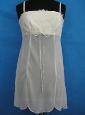 Babydoll Lingerie White Wedding Bridal Sexy Lace Sheer Sweet Angelic Womans M
