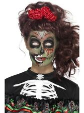 Day of the Dead Zombie Make-Up Kit Ladies Halloween Fancy Dress Face Paints