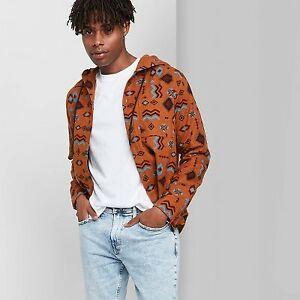 Men's Long Sleeve Hooded Flannel Button-Down Shirt - Original Use Bro