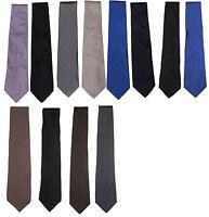 Ralph Lauren Purple Label Mens Hand Italy Solid Silk Satin Matte Knit Neck Tie