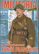 MILITARIA N°270 1940 EQUIPEMENTS ARMEE FRANCAISE / MINES AP ALLEMANDES / TAP
