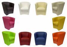 POLTRONA a POZZETTO in Ecopelle sedia poltroncina eco pelle ufficio Vari Colori