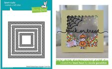 Lawn Fawn Cuts - Outside in Stitched Scalloped Square Stackables - Borders