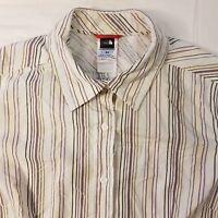 Womens The North Face Size Medium Short Sleeve Shirt Button Vapor Wick -HS34