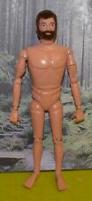 VINTAGE ACTION MAN 40th NUDE NAKED HARD HANDS FLOCKED HAIR BROWN BEARDED