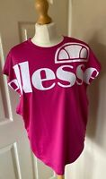 Ellesse Oversized Sports Gym Top Cirese Uk 8 Retro Dance