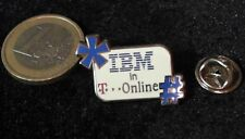 It CeBIT Technology Telecom pin badge IBM Telekom T-Online partenaires Logo