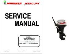 Mercury Mariner 50 / 60 (4-Stroke) Outboard Motor Service Manual CD