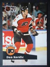 NHL 553 Dan Kordic Philadelphia Flyers Rookie Pro Set 1991/92