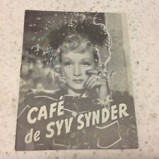 Seven Sinners John Wayne Marlene Dietrich Dekker Vtg 1940 Danish Movie Program