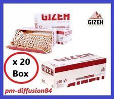 5000 TUBES à Cigarettes avec Filtre. GIZEH SILVER TIP - (20 Boîtes de 250 Tubes)