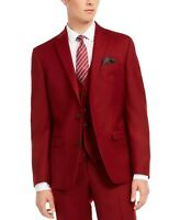 Bar III Mens Suit Separate Red Size 42 Long Slim Fit Tuxedo Wool $425 #121