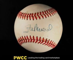 Stand Musial Signed Autographed Baseball Sweet Spot AUTO, JSA Auth, COA