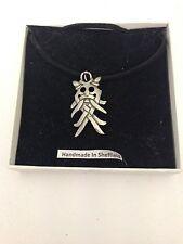 Odin's Mask WE-OMKR Emblem on a  Black Cord Necklace Handmade 41CM