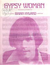 BRIAN HYLAND - GYPSY WOMAN - OZ 6 PAGE SHEET MUSIC